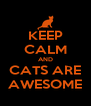 KEEP CALM AND CATS ARE AWESOME - Personalised Poster A4 size