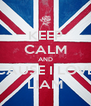 KEEP CALM AND CAUSE I LOVE LIAM - Personalised Poster A4 size