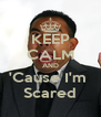 KEEP CALM AND 'Cause I'm  Scared - Personalised Poster A4 size