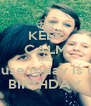 KEEP CALM AND Cause today is my BIRTHDAY - Personalised Poster A4 size