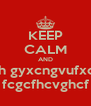 KEEP CALM AND cbuh gyxcngvufxdfgx fcgcfhcvghcf - Personalised Poster A4 size