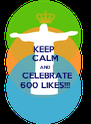 KEEP  CALM AND  CELEBRATE 600 LIKES!!! - Personalised Poster A4 size