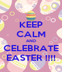KEEP CALM AND CELEBRATE EASTER !!!! - Personalised Poster A4 size