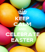 KEEP CALM AND  CELEBRATE EASTER - Personalised Poster A4 size
