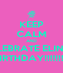 KEEP CALM AND CELEBRATE ELINA'S BIRTHDAY!!!!!!!!! - Personalised Poster A4 size