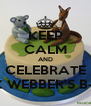 KEEP CALM AND CELEBRATE MARK WEBBER'S B-DAY! - Personalised Poster A4 size
