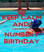 KEEP CALM AND  CELEBRATE NUMBER 7 BIRTHDAY - Personalised Poster A4 size