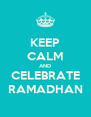 KEEP CALM AND CELEBRATE RAMADHAN - Personalised Poster A4 size