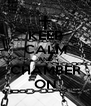 KEEP CALM AND CHAMBER ON - Personalised Poster A4 size