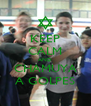 KEEP CALM AND CHAMUYA A GOLPES - Personalised Poster A4 size