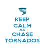 KEEP CALM AND CHASE TORNADOS - Personalised Poster A4 size