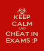 KEEP CALM AND CHEAT IN EXAMS :P - Personalised Poster A4 size