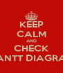 KEEP CALM AND CHECK GANTT DIAGRAM - Personalised Poster A4 size