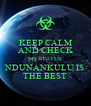 KEEP CALM AND CHECK MY STATUS NDUNANKULU IS THE BEST - Personalised Poster A4 size