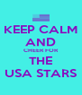 KEEP CALM AND CHEER FOR THE USA STARS - Personalised Poster A4 size