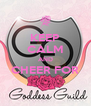 KEEP CALM AND CHEER FOR  - Personalised Poster A4 size