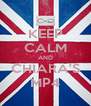 KEEP CALM AND CHIARA'S MP4 - Personalised Poster A4 size