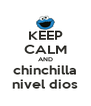 KEEP CALM AND chinchilla nivel dios - Personalised Poster A4 size
