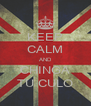 KEEP CALM AND CHINGA TU CULO - Personalised Poster A4 size