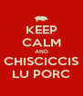 KEEP CALM AND CHISCICCIS LU PORC - Personalised Poster A4 size
