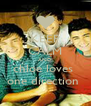 KEEP CALM AND chloe loves  one direction  - Personalised Poster A4 size