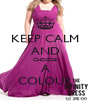 KEEP CALM AND CHOOSE A COLOUR - Personalised Poster A4 size