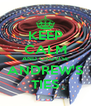 KEEP CALM AND CHOOSE ANDREW'S TIES - Personalised Poster A4 size
