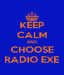 KEEP CALM AND CHOOSE RADIO EXE - Personalised Poster A4 size