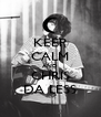 KEEP CALM AND CHRIS DA LESS - Personalised Poster A4 size