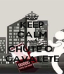 KEEP CALM AND CHUTE O  CAVALETE - Personalised Poster A4 size