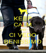 KEEP CALM AND CI VEDO BENISSIMO - Personalised Poster A4 size