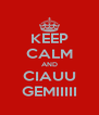 KEEP CALM AND CIAUU GEMIIIII - Personalised Poster A4 size