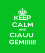 KEEP CALM AND CIAUU  GEMIIIII! - Personalised Poster A4 size
