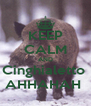 KEEP CALM AND Cinghialetto  AHHAHAH  - Personalised Poster A4 size