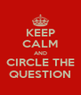 KEEP CALM AND CIRCLE THE QUESTION - Personalised Poster A4 size