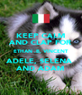 KEEP CALM AND CLAP FOR ETHAN .B, VINCENT ADELE, SELENA  AND ADAM - Personalised Poster A4 size