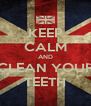 KEEP CALM AND CLEAN YOUR TEETH - Personalised Poster A4 size
