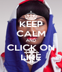 KEEP CALM AND CLICK ON LIKE - Personalised Poster A4 size