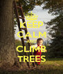 KEEP CALM AND CLIMB TREES - Personalised Poster A4 size
