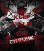 KEEP CALM AND Cm Punk - Personalised Poster A4 size