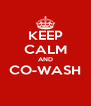 KEEP CALM AND CO-WASH  - Personalised Poster A4 size