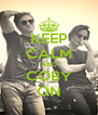 KEEP CALM AND COBY ON - Personalised Poster A4 size