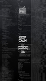 KEEP CALM AND {CODE;} ON - Personalised Poster A4 size