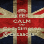 KEEP CALM AND CodySimpson @salsaadilah_ - Personalised Poster A4 size