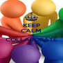 KEEP CALM AND COLLABORATE  - Personalised Poster A4 size