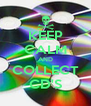 KEEP CALM AND COLLECT CD'S - Personalised Poster A4 size