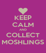 KEEP CALM AND COLLECT MOSHLINGS - Personalised Poster A4 size