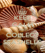 KEEP CALM AND COLLECT SEASHELLS - Personalised Poster A4 size