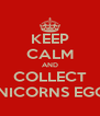 KEEP CALM AND COLLECT UNICORNS EGGS - Personalised Poster A4 size