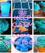 KEEP CALM AND coma  blue food  - Personalised Poster A4 size